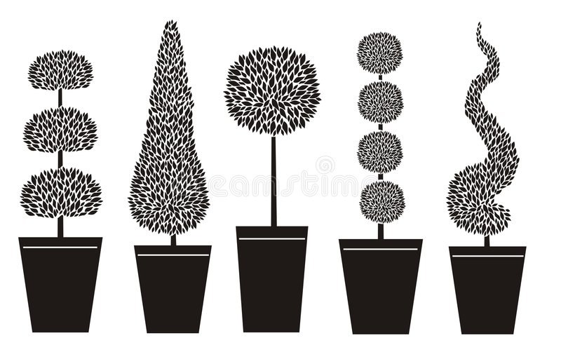 Formas do Topiary ilustração stock