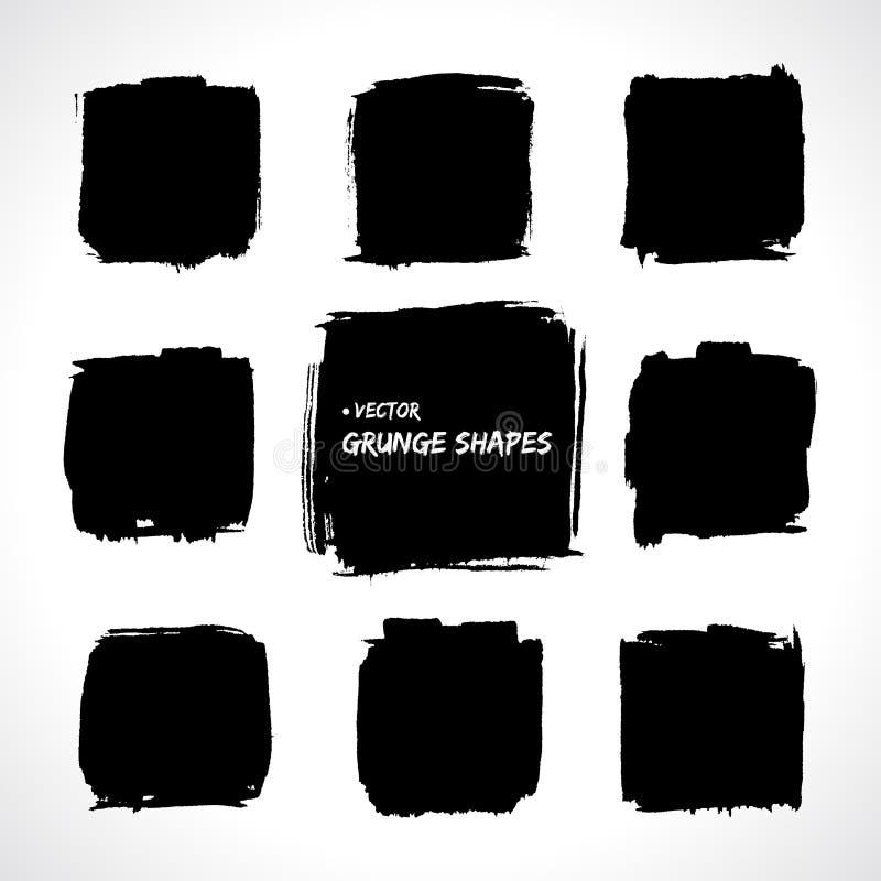 Formas do vetor do Grunge ilustração royalty free