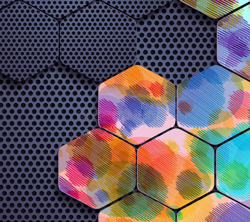 Formas e cores abstratas foto de stock