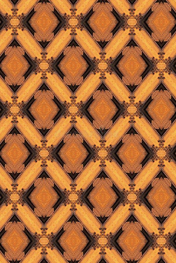 Formas e filigrees do diamante ilustração stock