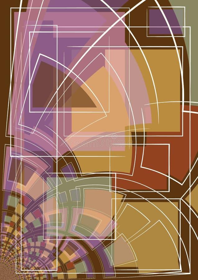 Formas e linhas da arte abstrata ilustração royalty free