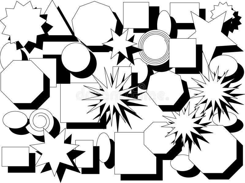 Formas e sombras ilustração do vetor