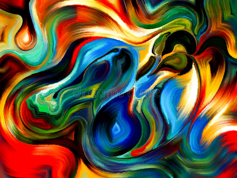Formas em desenvolvimento do ego ilustração royalty free