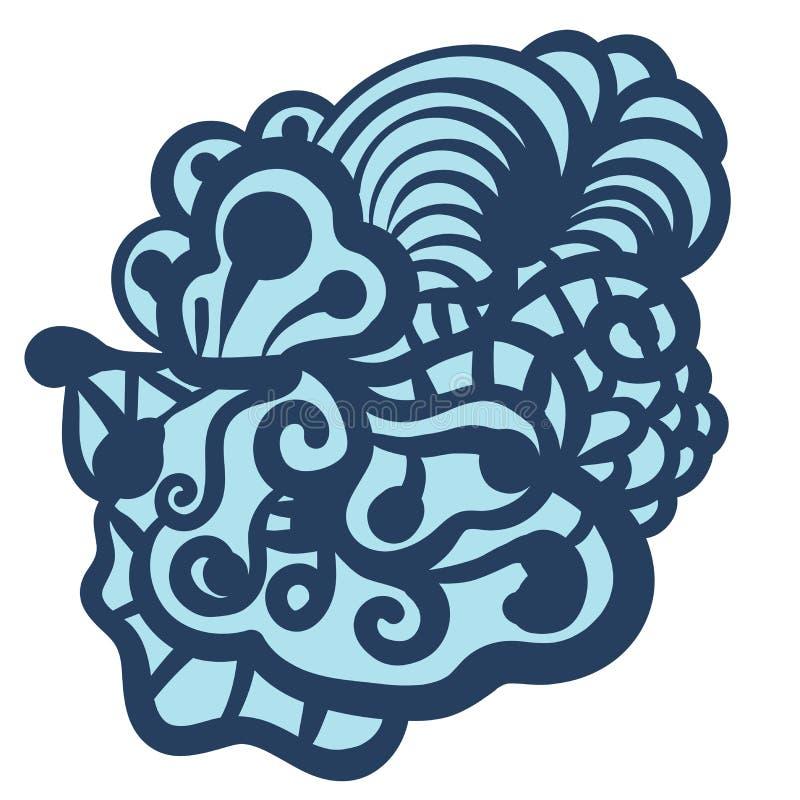 Formas florais, Paisley Elemento do sumário da garatuja isolado no fundo branco ilustração stock