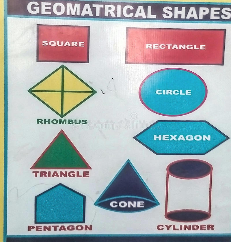 Formas geométricas fotografía de archivo