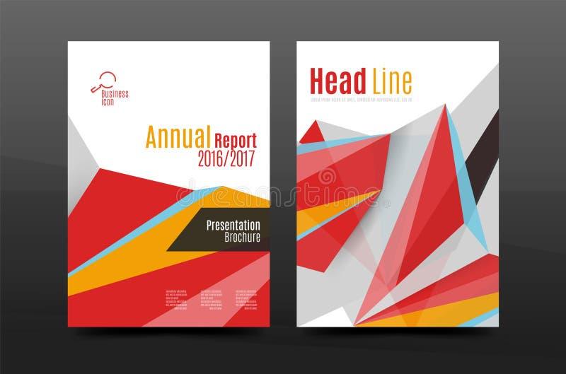 formas geométricas abstractas 3d Composición mínima moderna Diseño de la cubierta del informe anual del negocio stock de ilustración