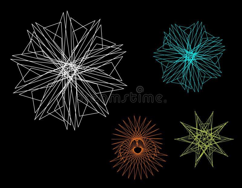 Formas geométricas abstractas de líneas Ejemplo del esquema del vector ilustración del vector