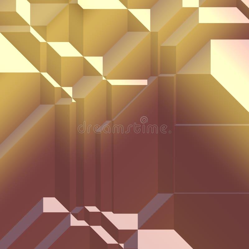 Formas geométricas angulares ilustração do vetor