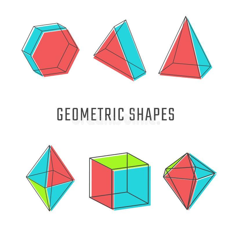 Download Formas Geométricas Coloridas Ilustração do Vetor - Ilustração de arte, cubo: 65576702