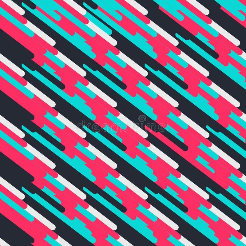 Formas geométricas del fondo del extracto del inconformista para el diseño de la decoración Ilustraci?n moderna del vector L?nea- ilustración del vector