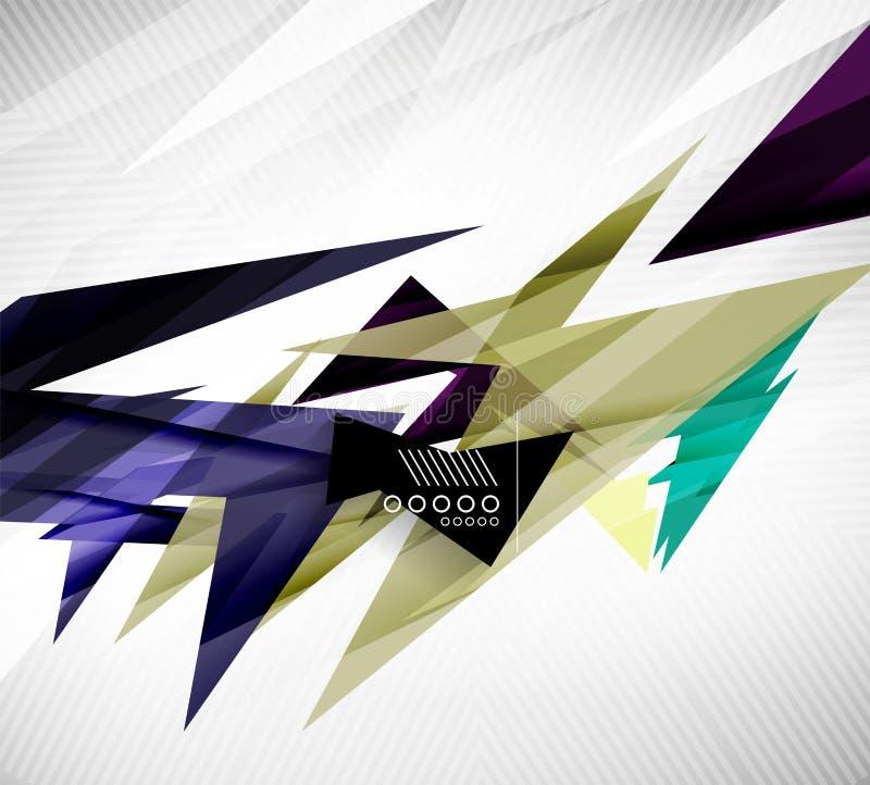 Formas geométricas do movimento - linhas retas rápidas ilustração do vetor