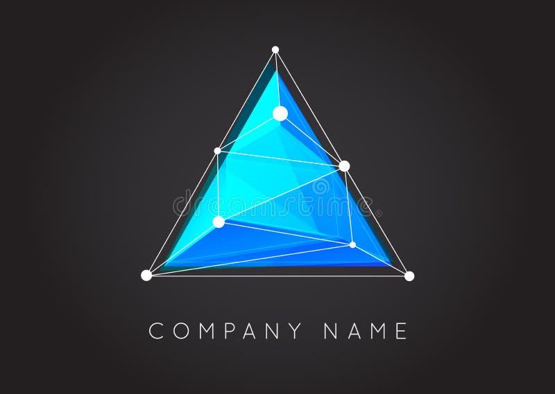Formas geométricas inusuales y logotipo abstracto del vector Co poligonal libre illustration