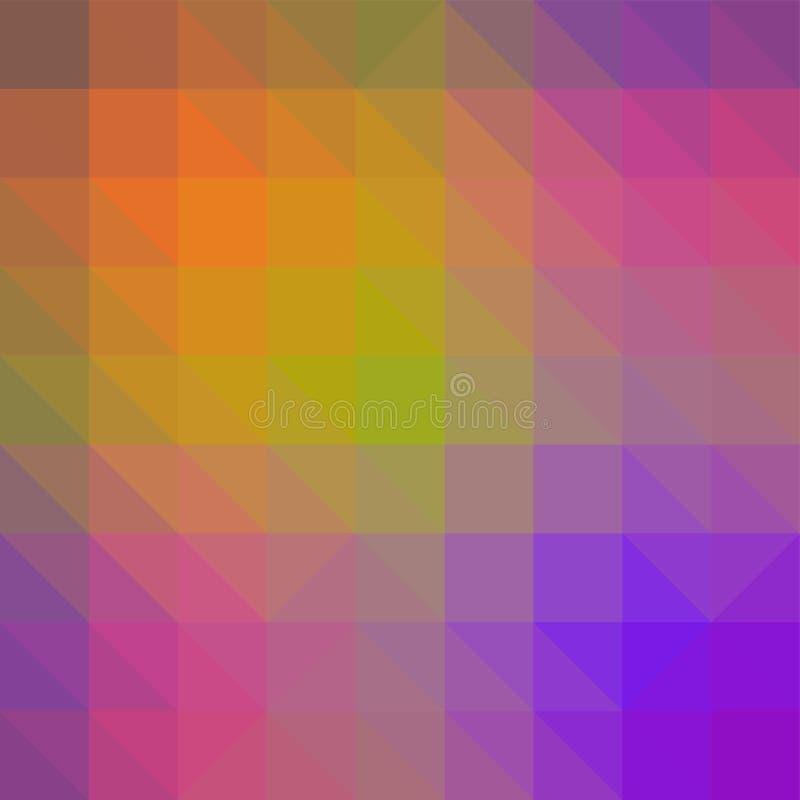 Formas geométricas quebradas polígono Textura coloreada extracto de formas geométricas El fondo decorativo se puede utilizar para stock de ilustración
