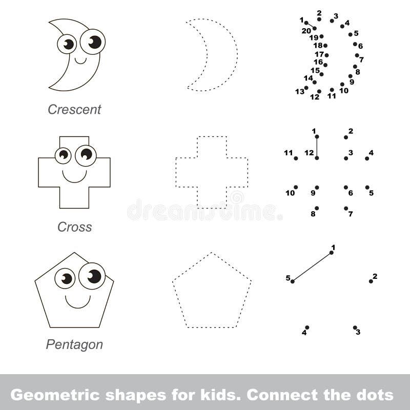 Formas Geométricas Simples Para Los Niños Ilustración del Vector ...