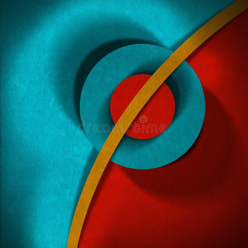 Formas geométricas - terciopelo ilustración del vector
