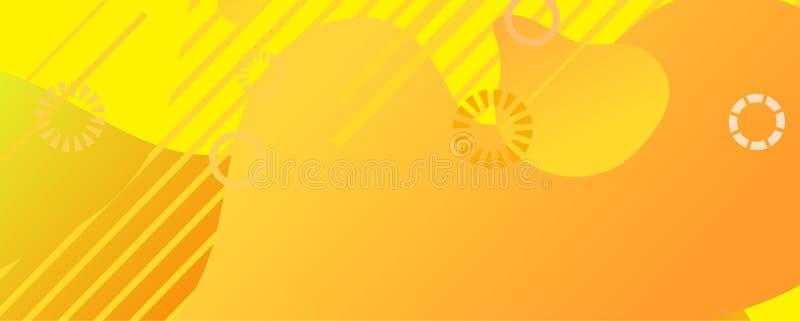 Formas líquidas abstractas vectoriales, Color Amarillo, Banner Colorido libre illustration