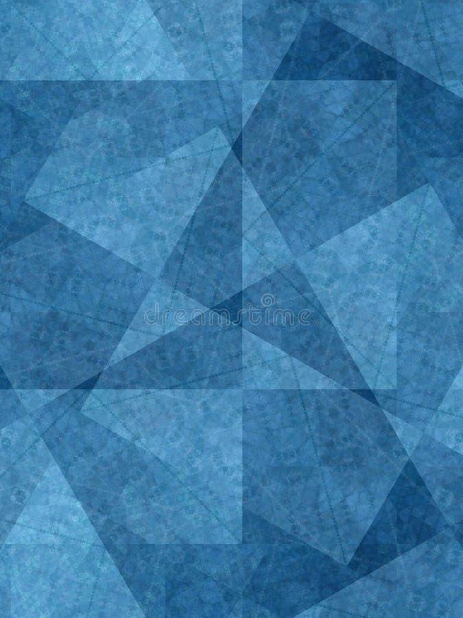 Formas originais do azul dos fundos imagem de stock