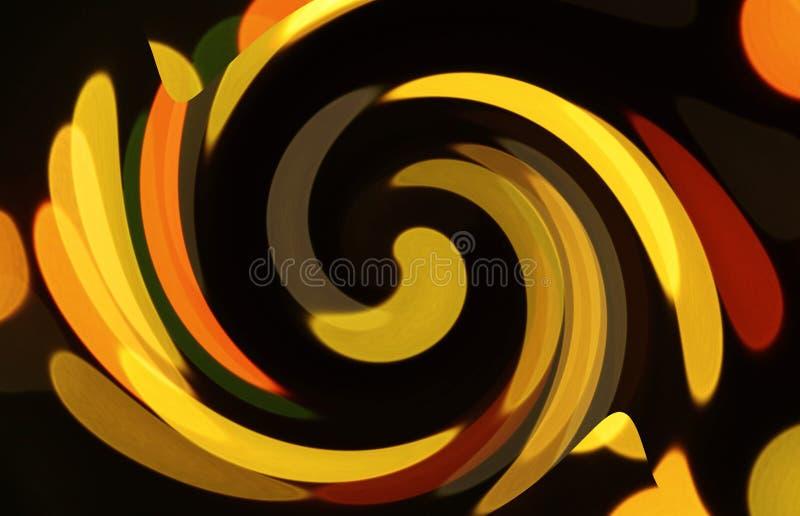 Formas pintadas de giro ilustração stock