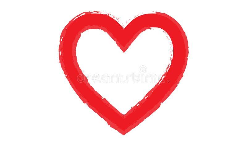Formas pintadas do coração ilustração royalty free