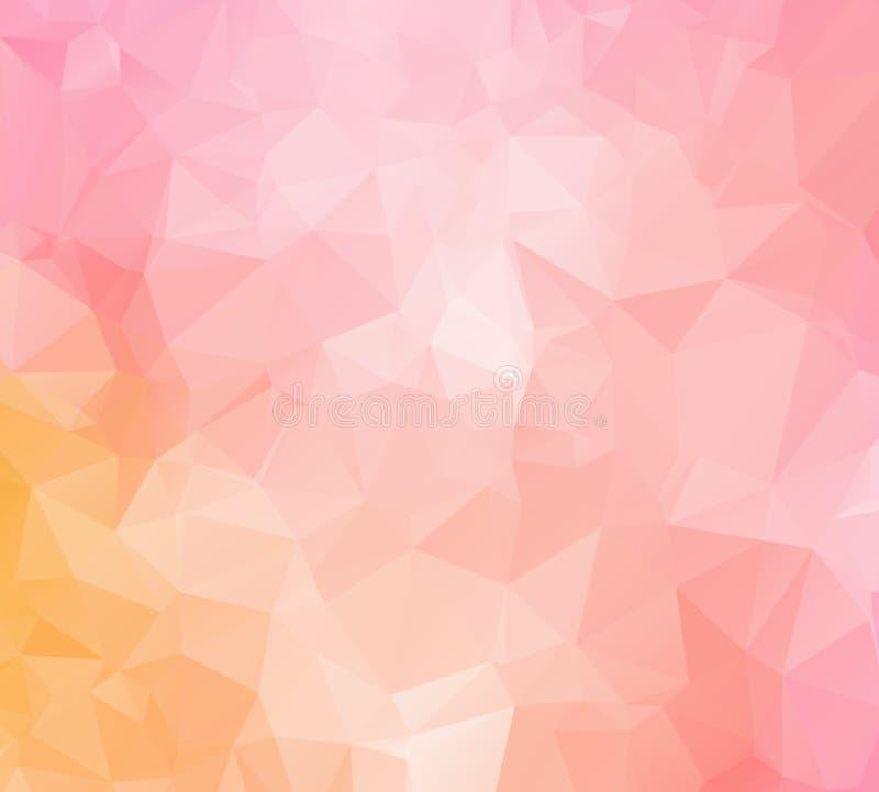 Formas poligonales fondo, mosaico polivinílico bajo de los triángulos, cristales negros contexto, papel pintado del diseño del ve stock de ilustración