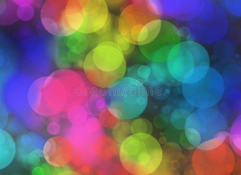 Formas redondas multicoloras en el arreglo caótico Falta de definición b del día de fiesta libre illustration