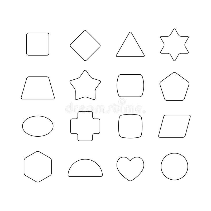 Formas redondeadas geométricas finas lineares libre illustration