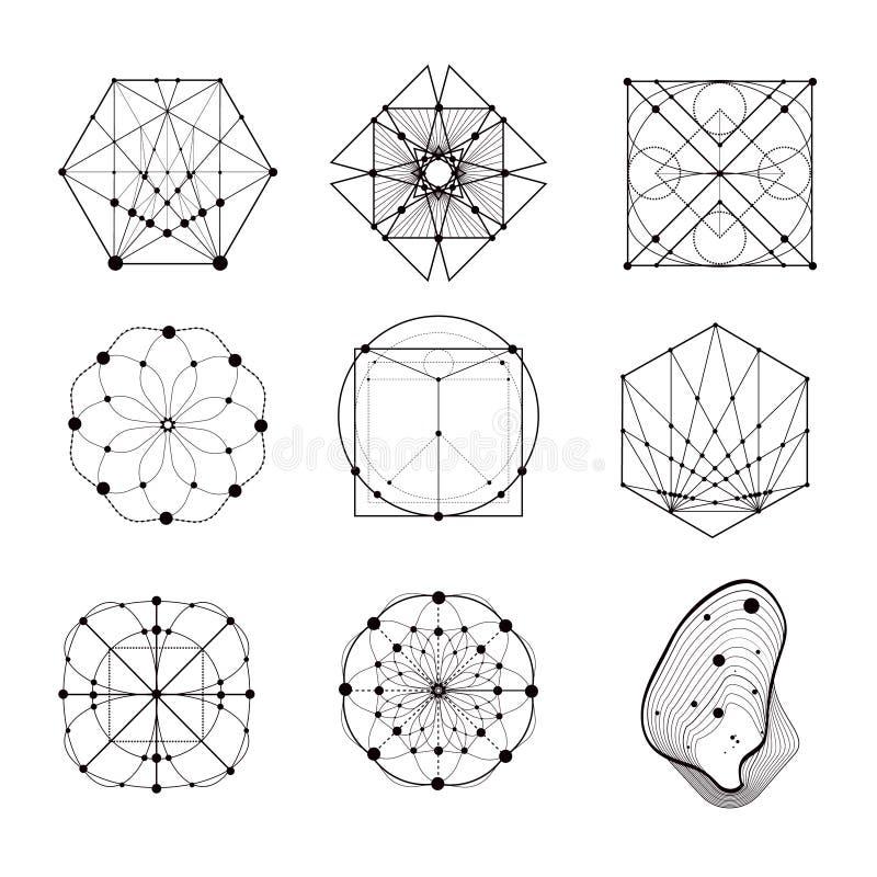 Formas sagradas de la geometría libre illustration