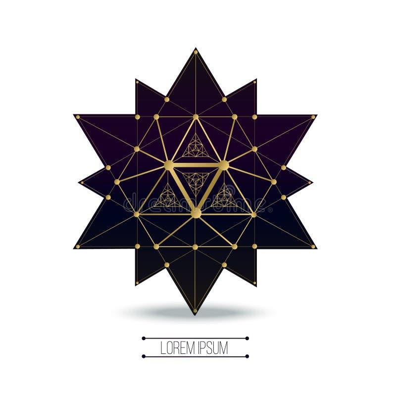Formas sagradas de la geometría stock de ilustración
