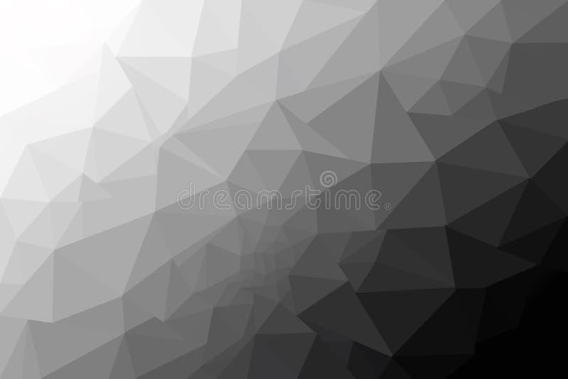 Formas texturizadas polivinílicas bajas del triángulo del fondo gris del extracto stock de ilustración