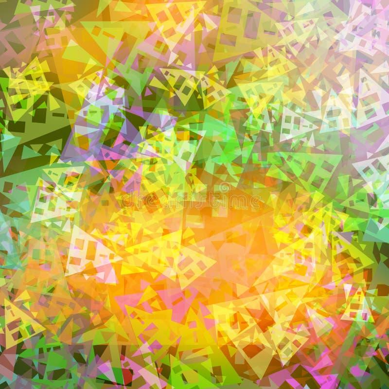Formas triangulares da textura vívida abstrata das cores do fundo ilustração do vetor