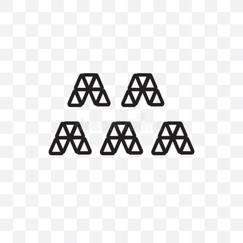 Formas triangulares que forman el icono linear del vector de ondas aislado en el fondo transparente, formas triangulares que form ilustración del vector