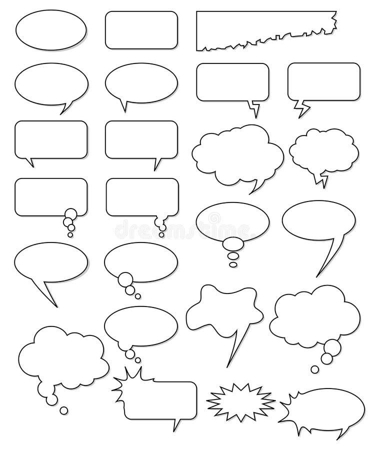 Formas vazias da banda desenhada. ilustração do vetor