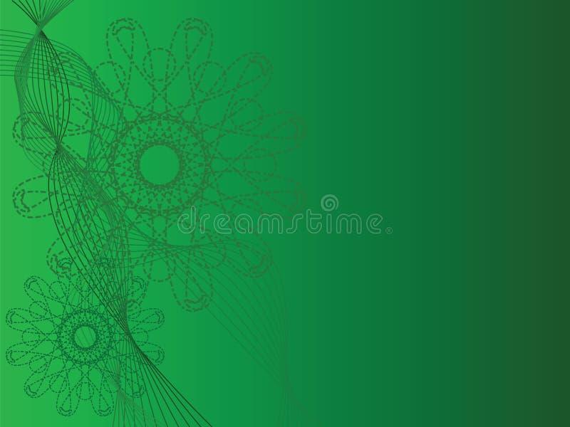 Formas verdes abstratas ilustração royalty free