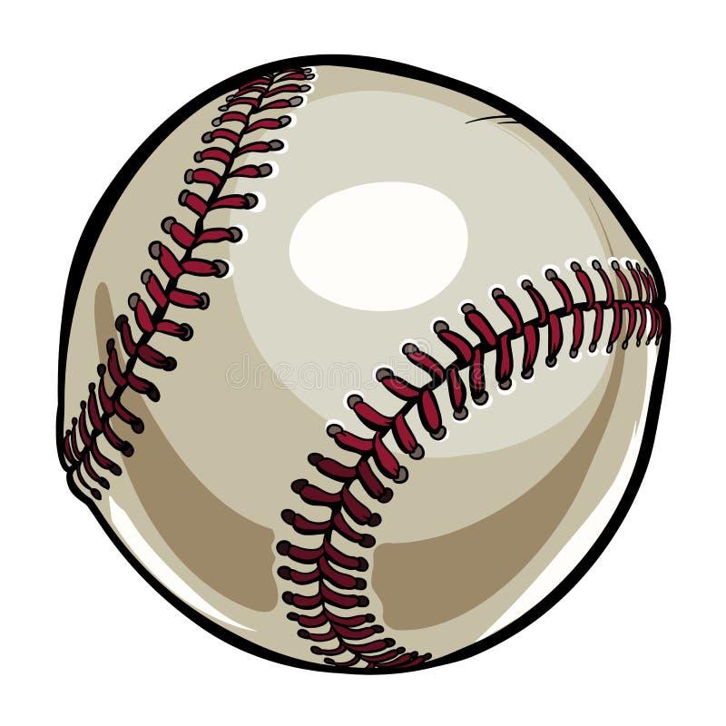 Format de boule de base-ball illustration stock