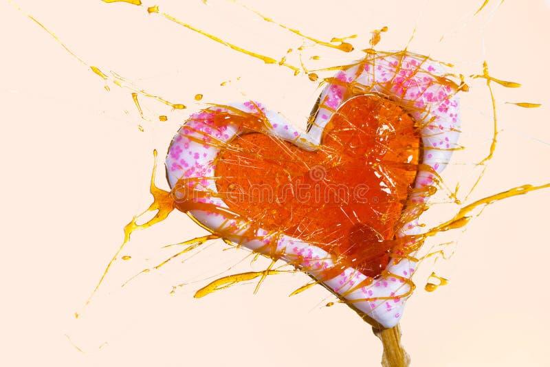 format fönster för cake hjärta fotografering för bildbyråer