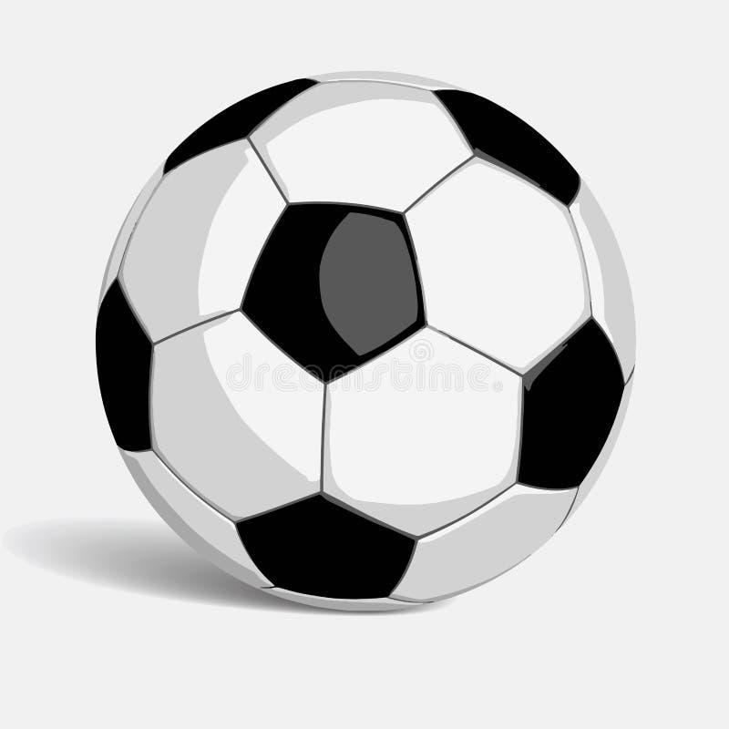 Format för vektor för fotbollfotbollboll stock illustrationer