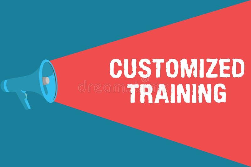 Formation adaptée aux besoins du client par apparence de note d'écriture La présentation de photo d'affaires a conçu pour répondr illustration stock