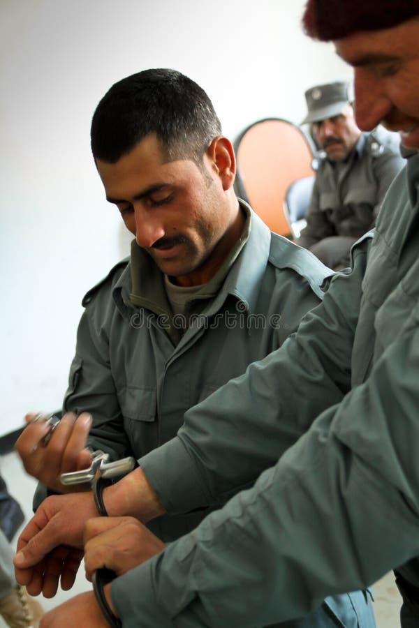 FORMATION AFGHANE DE SERVICE DE PRISON photos libres de droits