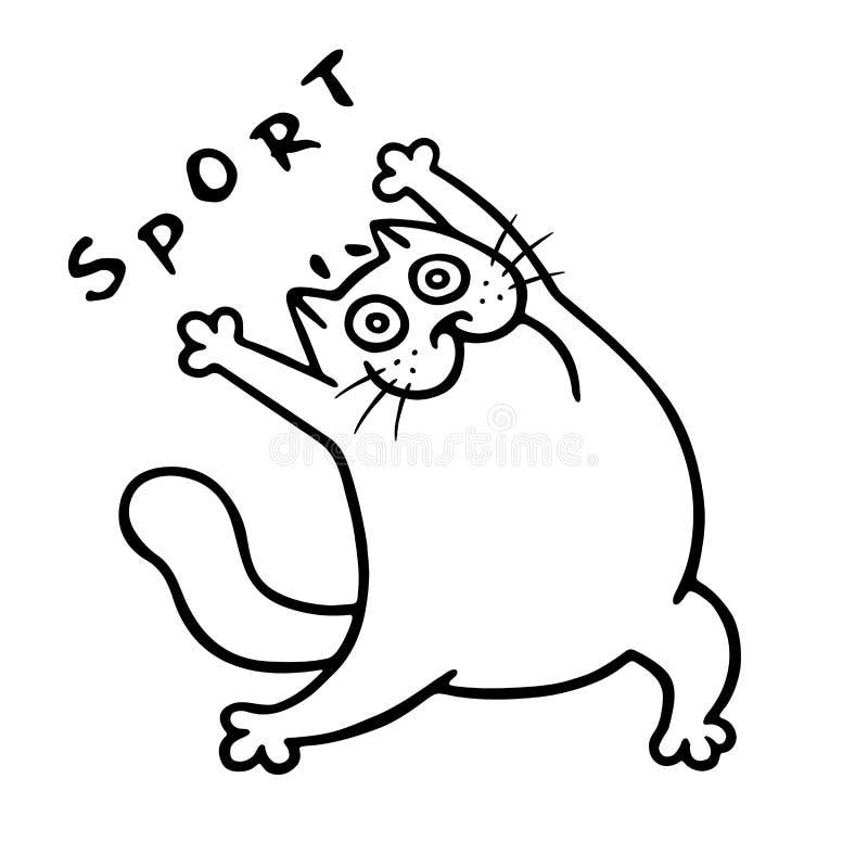 Formation avec le gros chat Illustration de vecteur illustration stock