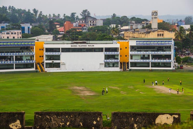 Formation d'équipe de cricket sur l'International de Galle photo libre de droits