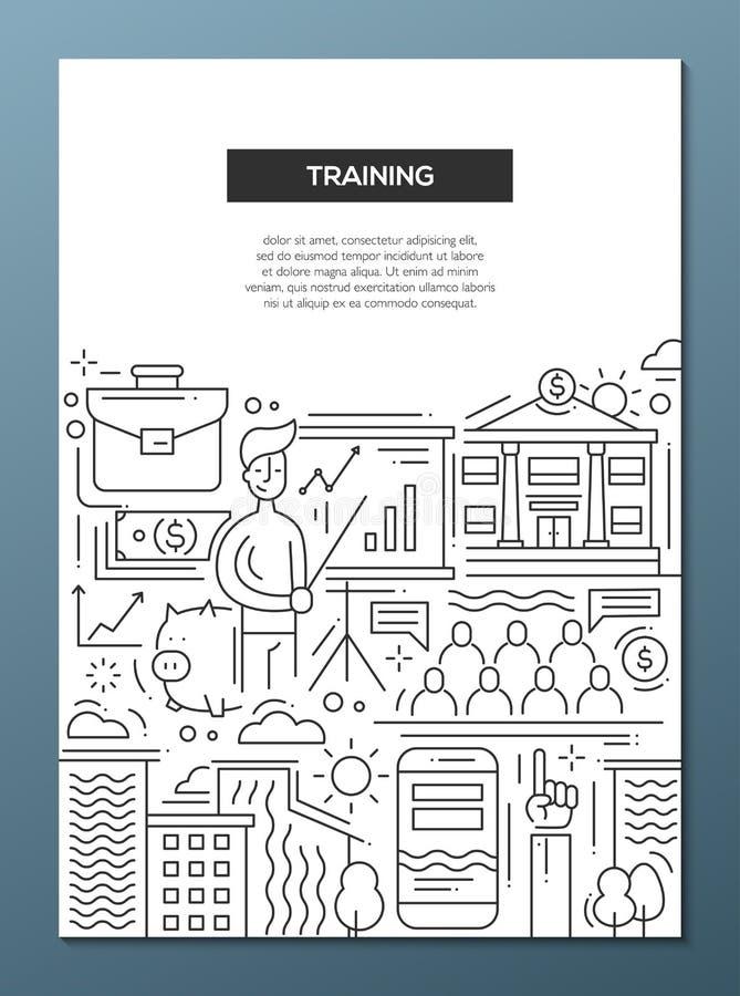 Formation d'affaires - rayez le calibre A4 d'affiche de brochure de conception illustration stock