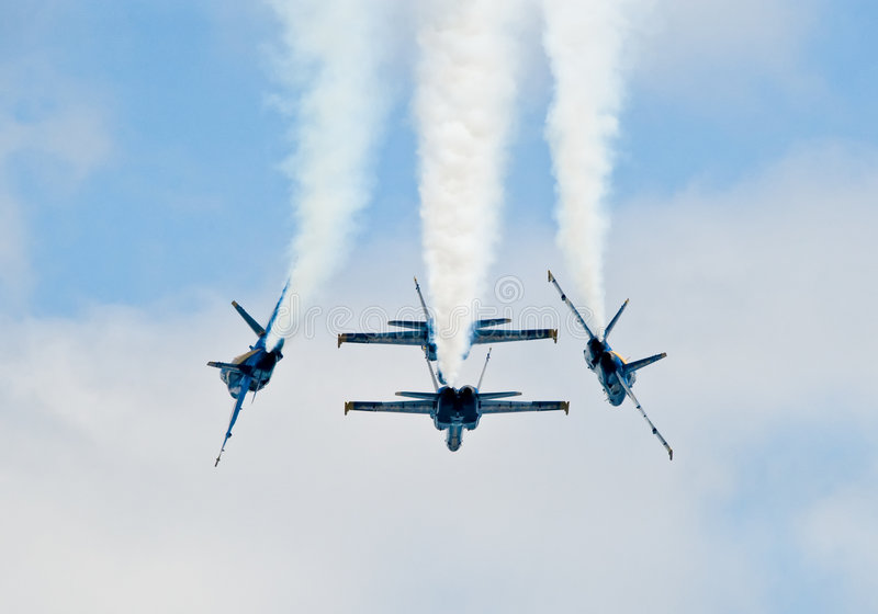 Formation d'anges bleus photographie stock