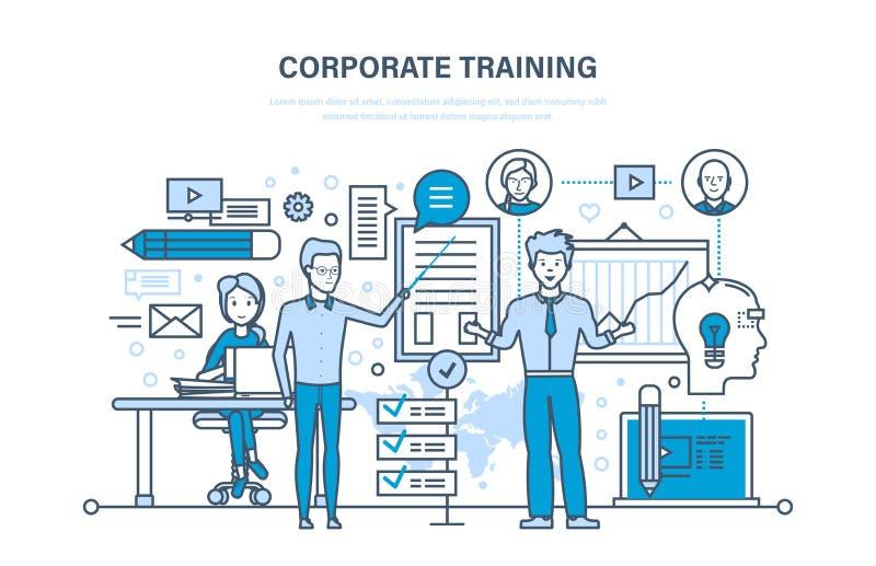 Formation d'entreprise, éducation, apprenant Enseignement sur la leçon Conférence, présentation illustration stock