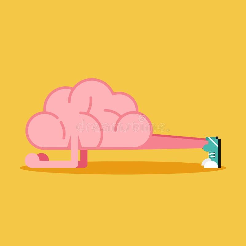 Formation de cerveau avec la conception plate de parquet Concept cr?ateur d'id?e illustration stock