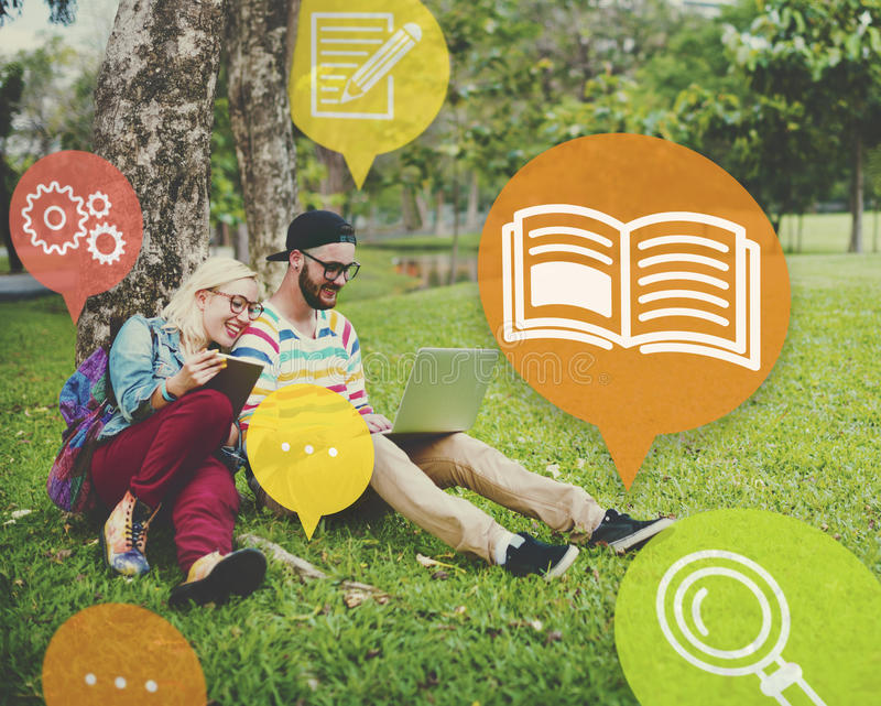 Formation de la connaissance apprenant le concept d'éducation de qualifications photos stock