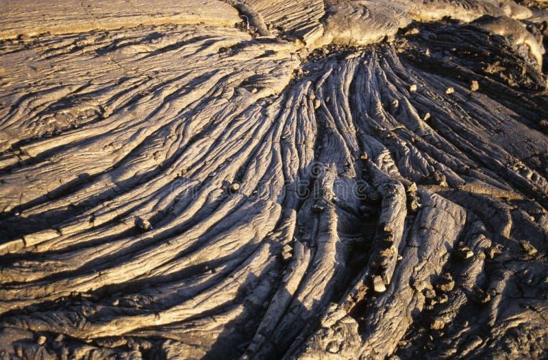 Formation de lave de volcan de Kilauea, Hawaï photo libre de droits