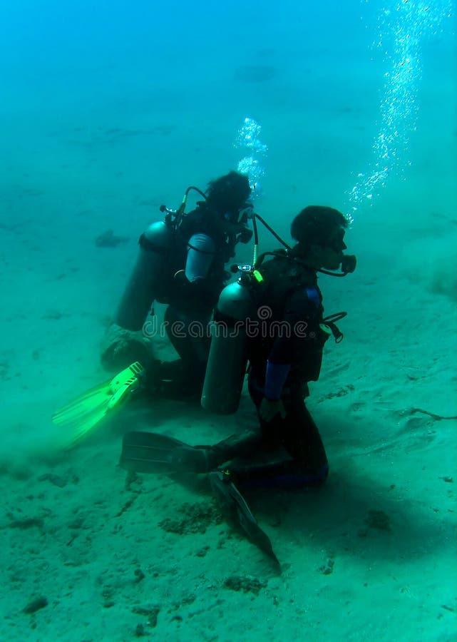 Formation de plongeurs image stock