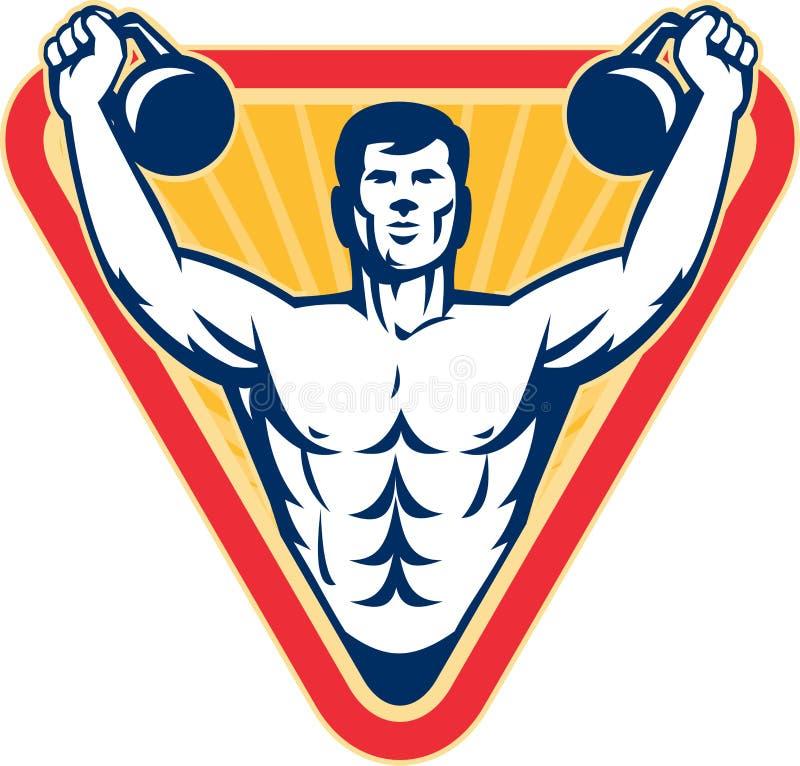 Formation de poids d'exercice de Kettlebell rétro illustration libre de droits