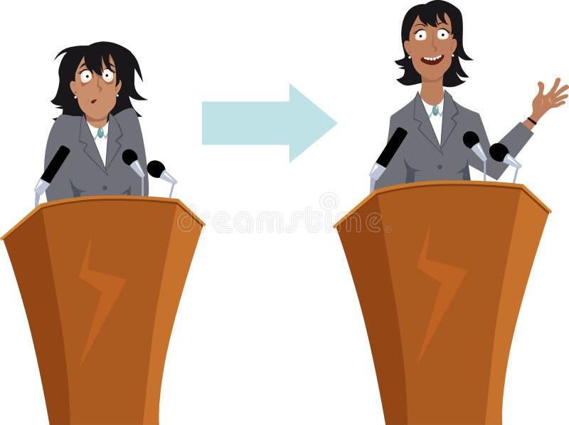 Formation de prise de parole en public illustration de vecteur