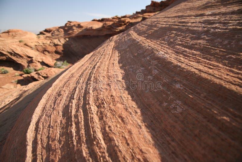Formation de roche à la courbure en fer à cheval en Utah, Etats-Unis images libres de droits
